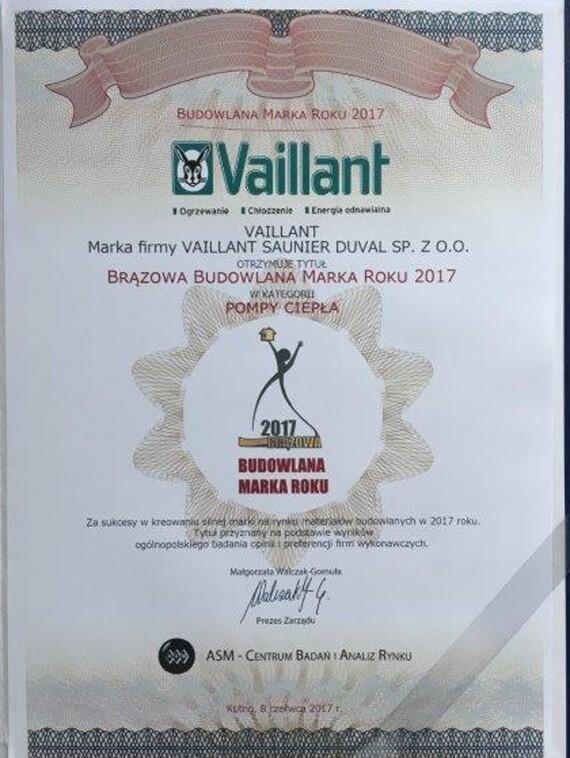 Kolejna nagroda w kolekcji marki Vaillant